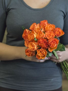 Bouquets: Fifteen Dark Orange